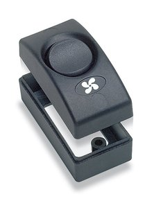 Contour 1100-BK: 12v/10amp Black Single Interior Light Switch