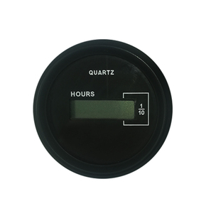 Black 50mm Digital Quartz Hourmeter-10,000 Hours