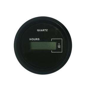 Black 50mm Digital Quartz Hourmeter-10,000 Hours