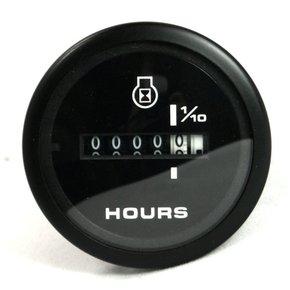 Amega Black 50mm Domed Hourmeter-10,000 Hours