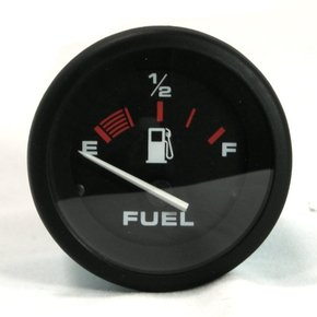 Amega Domed Universal Fuel Guage - Black Face