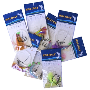 Flasher Rigs - Assorted Sizes / Colours - 4/0 to 8/0