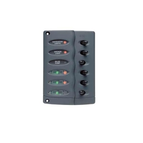 CSP6-F: 6 Switch Led Switch Panel with Fuses