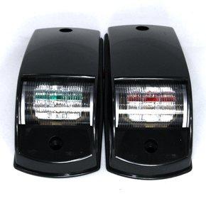 12volt LED Port & Starboard Navigation Side Light Set-Black