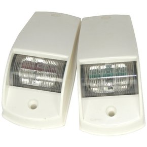 12v LED Port & Starboard Navigation Side Light Set-White