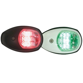 12v LED Port & Starboard Navigation Light Set - White