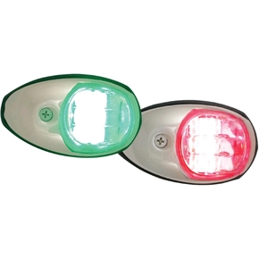 12v LED Port & Starboard Navigation Light Set - s/STEEL