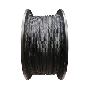 8mm Solid Yacht Racing Braid per metre - Black