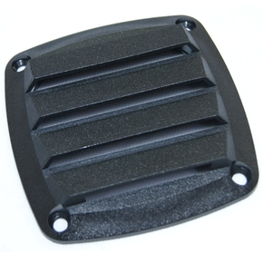 Black Louvered ABS Vent for RV/Boats 86x86mm