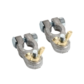 Positive & Negative Battery Terminals (Pair) 5/16""
