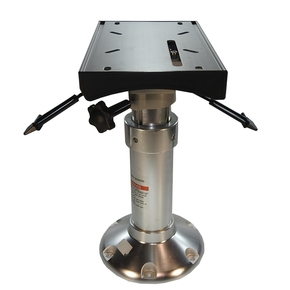 "H/Duty 9"" Base Gas Adjustable Seat Pedestal w/Swivelling Slider"