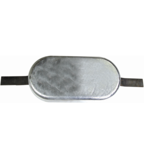 Anode Oval W/Strap 250 x 125mm
