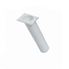 Slimline Flush Mount Angled Rod Holders-ABS White