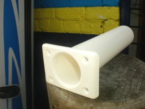 Slimline Flush Mount Straight Rod Holder-White