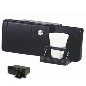 Premium Boat Glove Box with 2x Drink Holders - Black