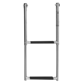 SS Above Platform 2 Step Telescopic Ladder - 316 Grade