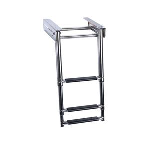 3 Step Telescopic Boarding Under Deck Platform Ladder - 316 Grade SS