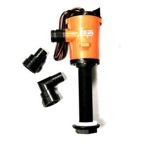 Straight Live Bait Pump - 12 volt / 600 GPH