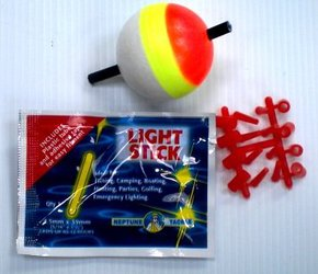 3.5cm Fishing Ball Float w/Light Stick