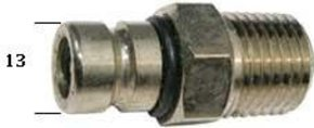 Outboard Fuel Tank Fitting 75hp+ Male - 8mm Barb