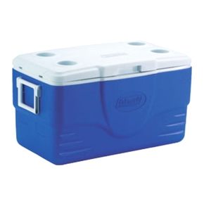 Blue Chilly Bin w/4 Cup Holders-47L Marine/Camping