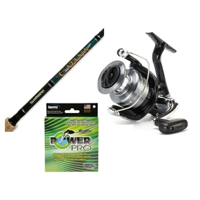 "Sienna 4000 FB Spinning Reel & 7'3"" 2 Piece 6-8kg Catana Rod with Braid"