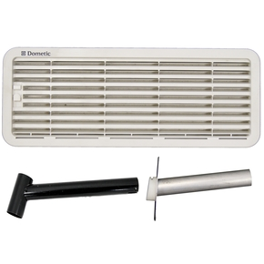 1620/4 Gas Fridge Upper & Lower Vents with Flue Kit- (For 90-121 Litre)