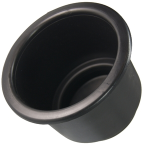 95mm Recessed Black Flush Drink Holder