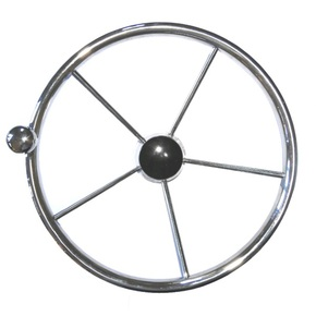"15.5"" SS 5-Spoke Steering Wheel w/Brodie Knob"