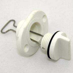 Drain Plug Complete 25mm Cutout - White (Fine Thread)