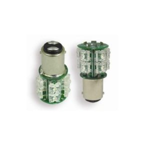 12V BA15D LED Bulb Parallel Pins / DBL Contact - 13 Led - Warm White