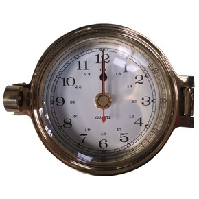 """3"""" Brass Porthole Style Clock"""