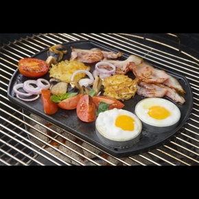 93345 Charcoal Barbeque BBQ Griddle / Hotplate