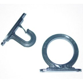 Single Rod Screw On Rod Hanger-Black