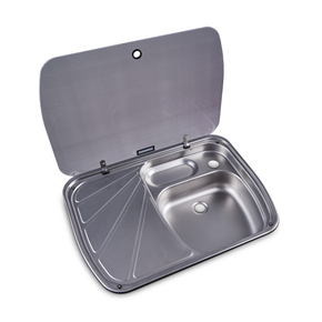 SS Sink w/Drain Tray and Glass Lid 600 x 445MM