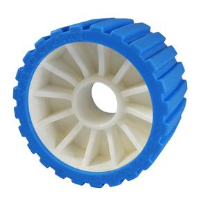 Trailer Wobble Roller Wheel-Blue (each)