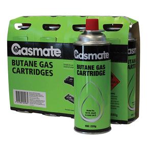 220g Butane Gas Cylinder Cartidges 4-pk