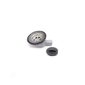 19mm Angled Sink Waste with Plug-Grey