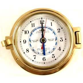 "3"" Brass Time & Tide Clock"