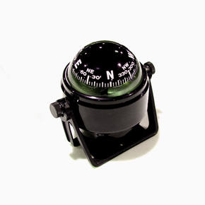 Black Bracket Mount Compass with 50mm Card