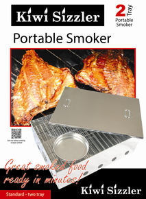 Stainless Steel 2 Tray Meat & Fish Smoker