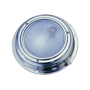 LED SS Surface Mount Dome Cabin Light - 12v / 10cm w/switch