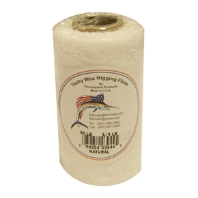 Tacky Wax Rigging Floss 30lb - 1/4lb Spool (Natural Colour)