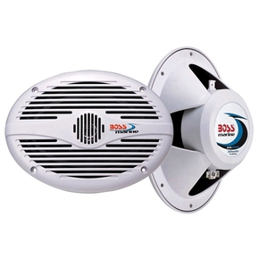 "Full Range 350w Marine Speakers 6x9"" White - Pair"