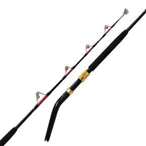 Livefibre 5'5 Fully Rollered Bent Butt Stand Up game Rod 37kg