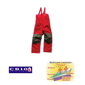 Pacific Coastal Waterproof Breathable Sailing Trousers- Large Red