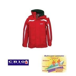 Pacific Coastal Unisex Waterproof Breathable Sailing Jacket - XXL (2XL) - Red