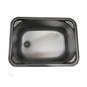 SS Rectangle Sink/Basin 380x280x145mm w/Waste