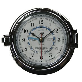 "4.5"" Chrome Time & Tide Porthole Clock"