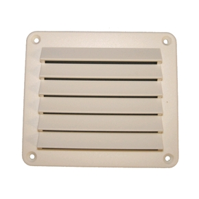 White ABS Louvred Vent Rectangle - 140 x 125mm